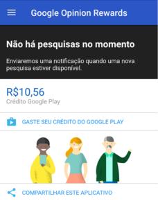 Ganhe créditos com o Google Opinion Rewards